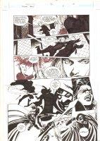 Batman: Family #4 p.18 - Huntress (Helena Bertinelli) vs. Suicide King - 2003  Comic Art