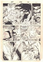 Defenders #152 p.35 - Beast, Valkyrie, and Angel try to save Candy - 1986 Comic Art
