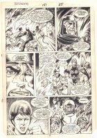 Defenders #151 p.18 - Beast, Valkyrie, Angel, Iceman, and More - 1986 Comic Art