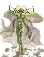Hela Color Commission - Signed Comic Art